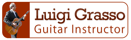 Luigi Grasso Guitar Instructor, Logo